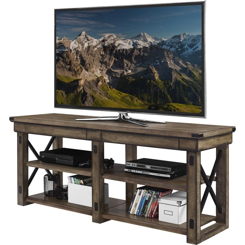 """Aaric Tv Stands For Tvs Up To 65"""" Regarding Most Up To Date Altra Wildwood 65"""" Tv Stand In Rustic Gray – 1768096pcom (View 11 of 20)"""