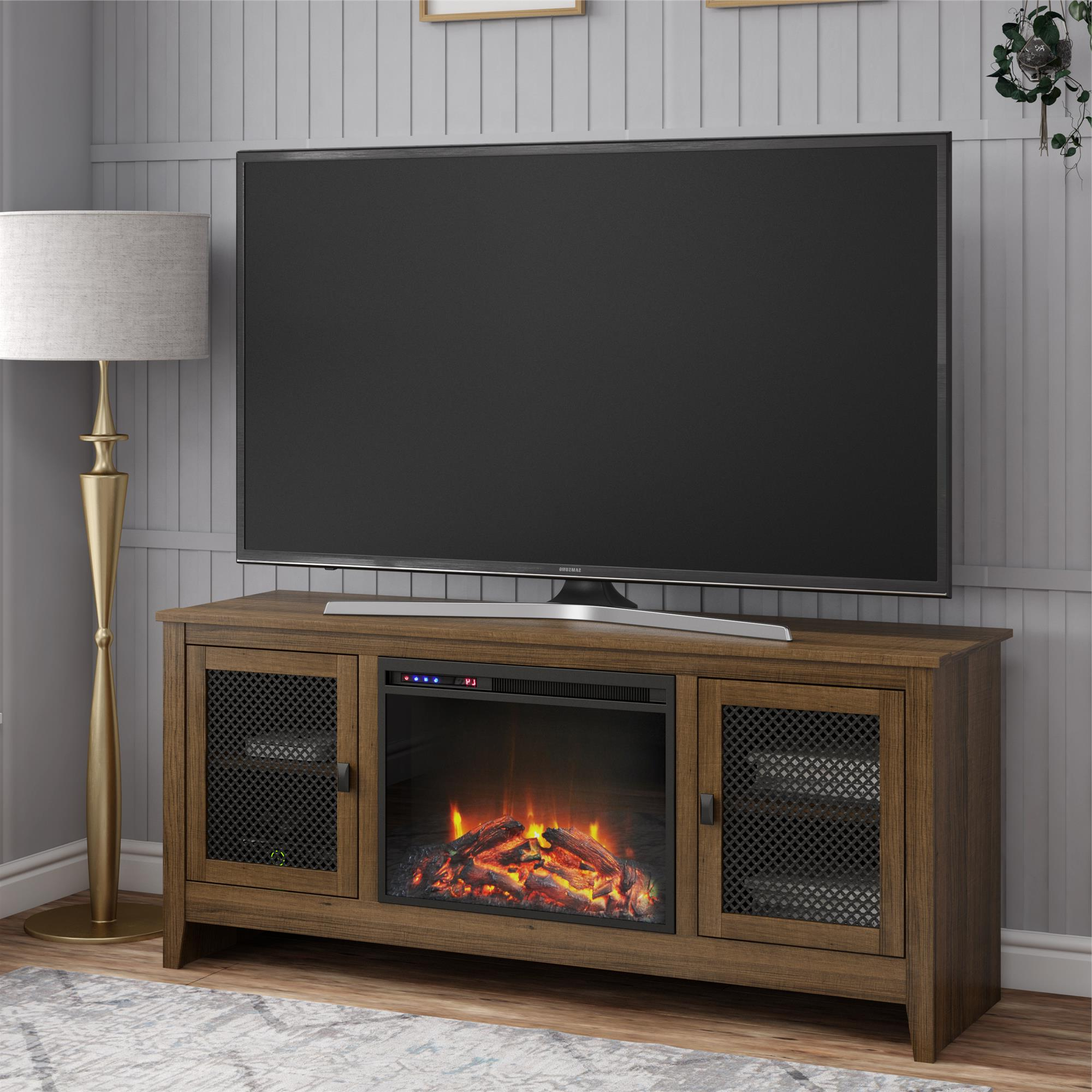 """Aaric Tv Stands For Tvs Up To 65"""" Within Most Up To Date Ameriwood Home Paradise Valley Fireplace Tv Stand For Tvs (View 20 of 20)"""