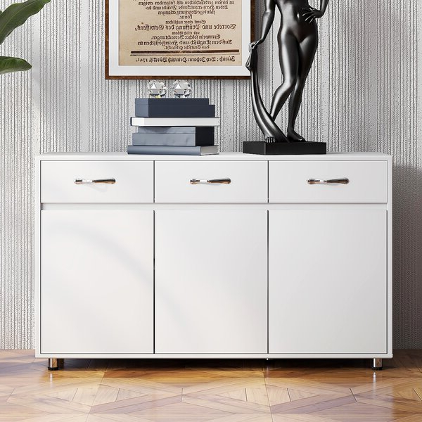 """Abdisalan 52.36"""" Wide 3 Drawer Sideboards Within Most Recently Released Latitude Run® Abdisalan (View 2 of 20)"""