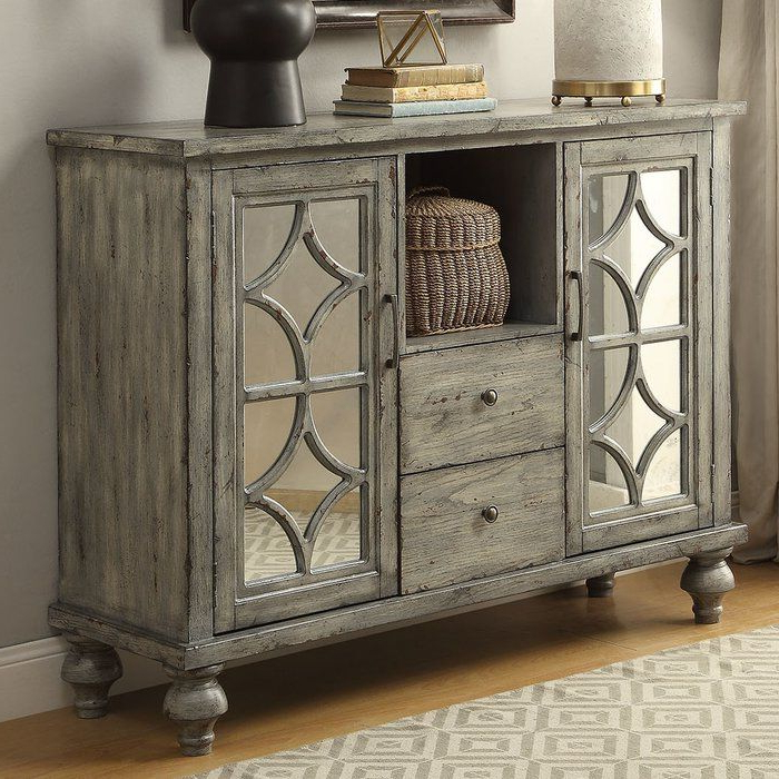 """Accent Doors Intended For Most Recently Released Frida 71"""" Wide 2 Drawer Sideboards (View 6 of 20)"""