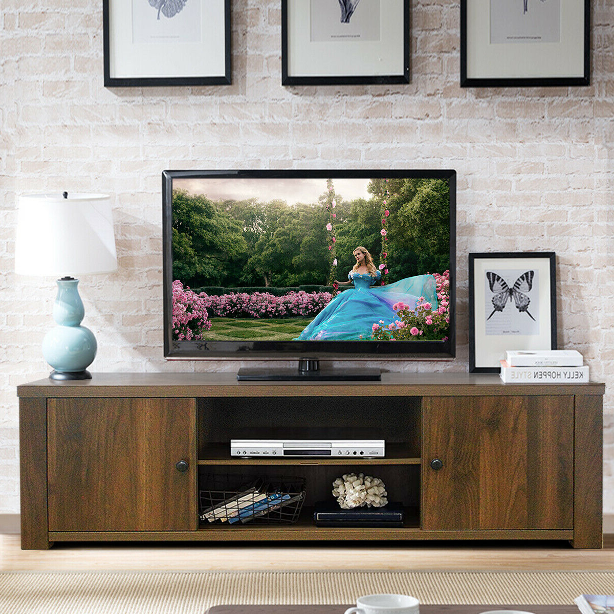 """Adalberto Tv Stands For Tvs Up To 65"""" For Well Liked Tv Stand 65 Inch Flat Screen Home Furniture Entertainment (View 8 of 20)"""