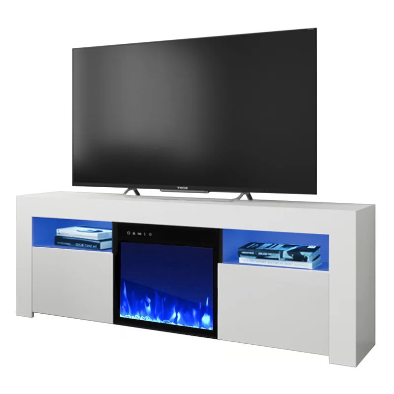 """Adalberto Tv Stands For Tvs Up To 65"""" Pertaining To 2020 Orren Ellis Earle Tv Stand For Tvs Up To 65"""" With Electric (View 7 of 20)"""