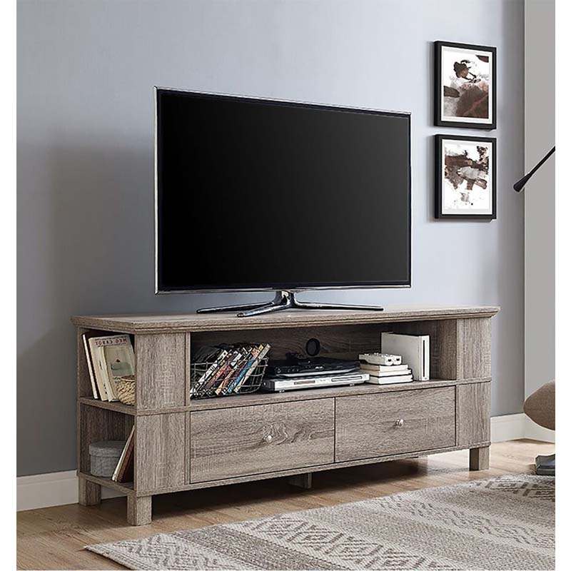 """Adora Tv Stands For Tvs Up To 65"""" For Most Recent Walker Edison 65 Inch Tv Stand With Multimedia Storage (View 6 of 20)"""