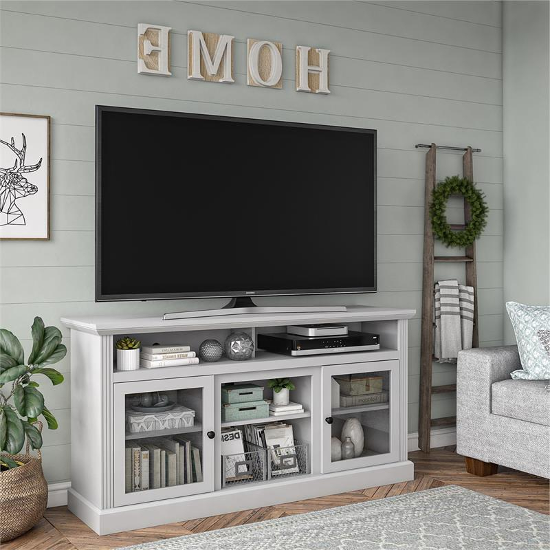"""Adrien Tv Stands For Tvs Up To 65"""" With Most Current Ameriwood Home Chicago Tv Stand For Tvs Up To 65"""" In Dove (View 16 of 20)"""