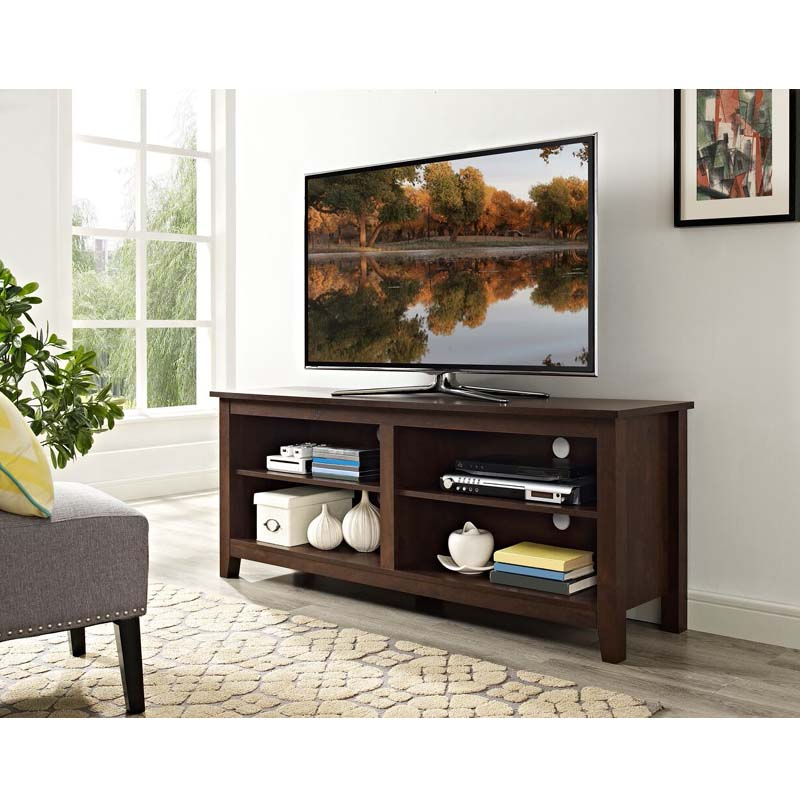 """Alannah Tv Stands For Tvs Up To 60"""" For Favorite Walker Edison Open Shelf 60 Inch Tv Stand (traditional (View 6 of 20)"""