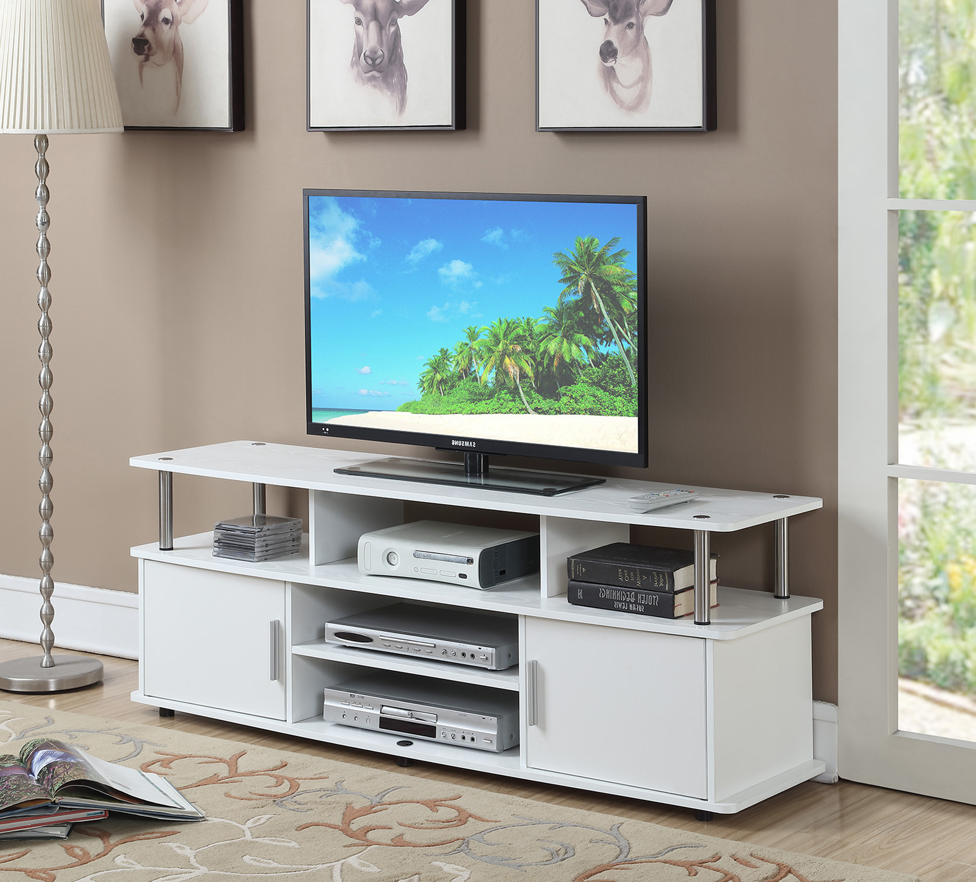 """Alannah Tv Stands For Tvs Up To 60"""" For Most Current Convenience Concepts Designs2go 60"""" Monterey Tv Stand (View 10 of 20)"""
