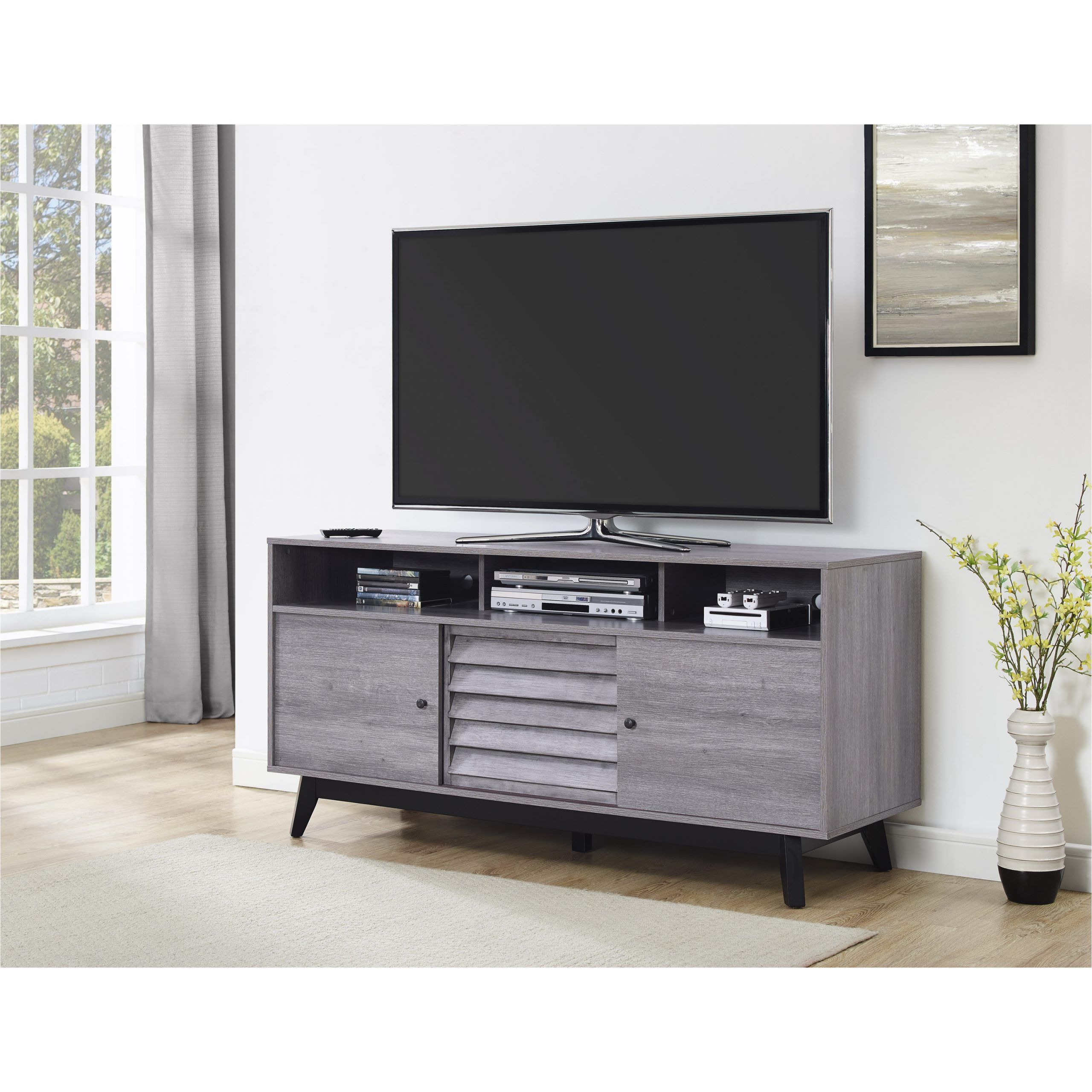"""Alannah Tv Stands For Tvs Up To 60"""" For Most Popular Dorel Home Products Dorel Vaughn Tv Stand (60"""") Grey Oak (View 8 of 20)"""