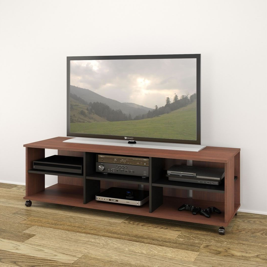 """Alannah Tv Stands For Tvs Up To 60"""" Pertaining To Well Known Nexera Jasper 60 Inch Tv Stand (moka & Black) – Disc Nx (View 11 of 20)"""