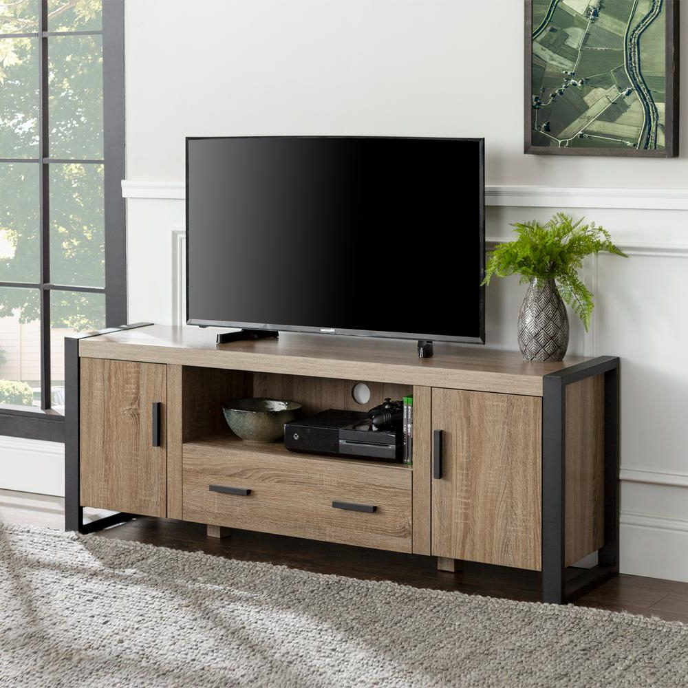 """Alannah Tv Stands For Tvs Up To 60"""" With Most Popular Walker Edison Furniture Company Urban Blend 60 In (View 7 of 20)"""