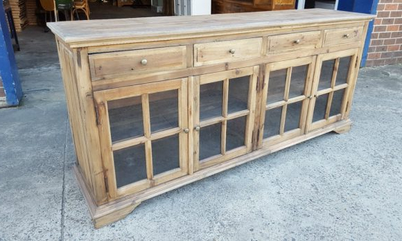 Albermarle Sideboards Within Latest Build Glass Front Buffet Sideboard — Oscarsplace Furniture (View 10 of 20)