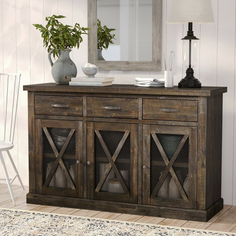 """Albright 58"""" Wide 3 Drawer Sideboards For Best And Newest Top 9 Best Mexican Sideboards And Buffets In 2020 – Buyer (View 10 of 20)"""