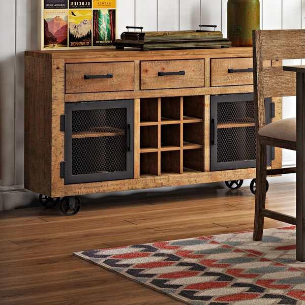 """Albright 58"""" Wide 3 Drawer Sideboards Inside Most Current Loon Peak® Marion (View 13 of 20)"""