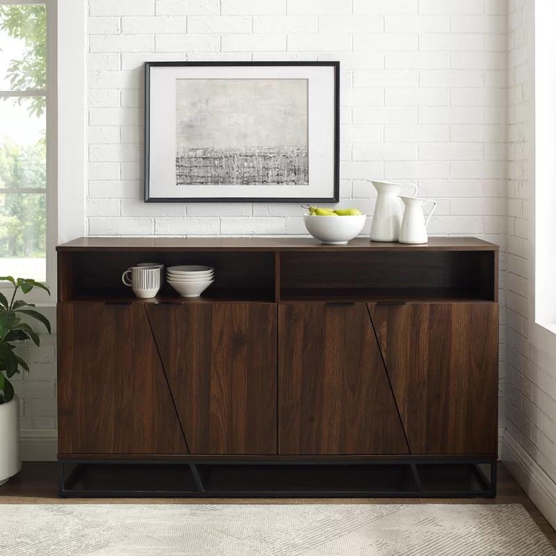 """Albright 58"""" Wide 3 Drawer Sideboards Inside Most Popular Fritch 58"""" Wide Sideboard In (View 18 of 20)"""