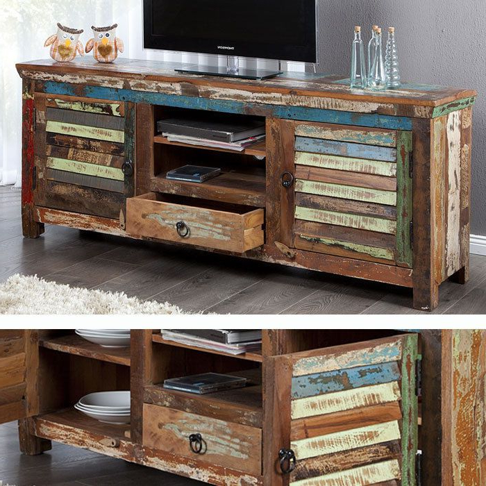 Aliya Sideboards With Most Up To Date Designer Tv Board Sideboard Unikat Bandung Aus Recycling (View 19 of 20)