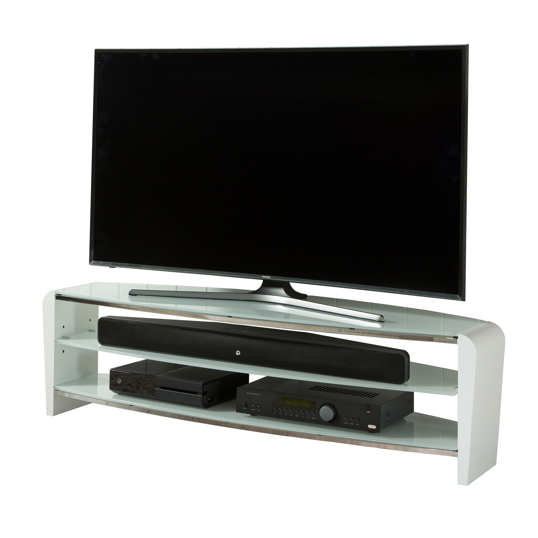 """Alphason Francium 140cm White Tv Stand For Up To 60"""" Tvs Throughout Well Known Evanston Tv Stands For Tvs Up To 60"""" (View 20 of 20)"""