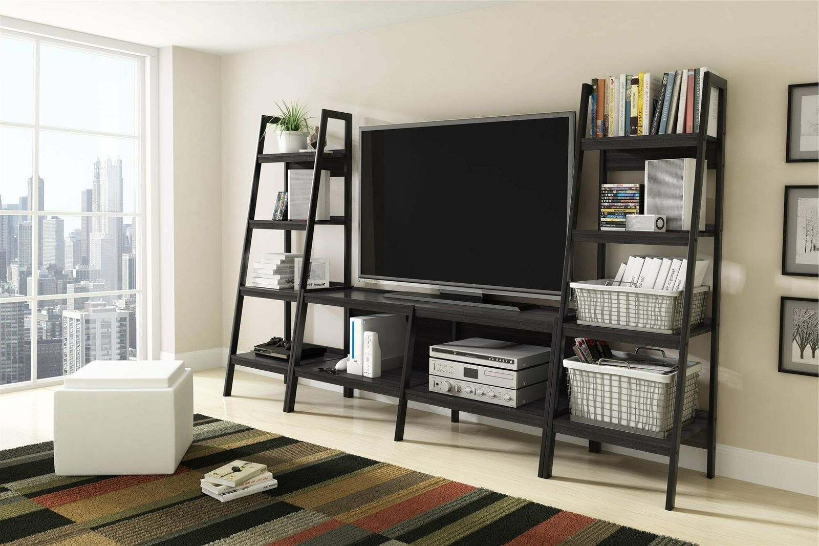 """Ameriwood Home Lawrence Ladder Tv Stand For Tvs Up To 60 Pertaining To Favorite Miah Tv Stands For Tvs Up To 60"""" (View 5 of 20)"""
