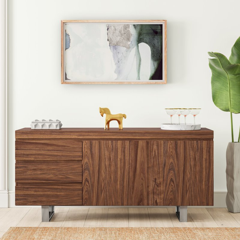 """Annabella 54"""" Wide 3 Drawer Sideboards Pertaining To 2020 Mercury Row Sienna 63"""" Wide 3 Drawer Sideboard & Reviews (View 16 of 20)"""