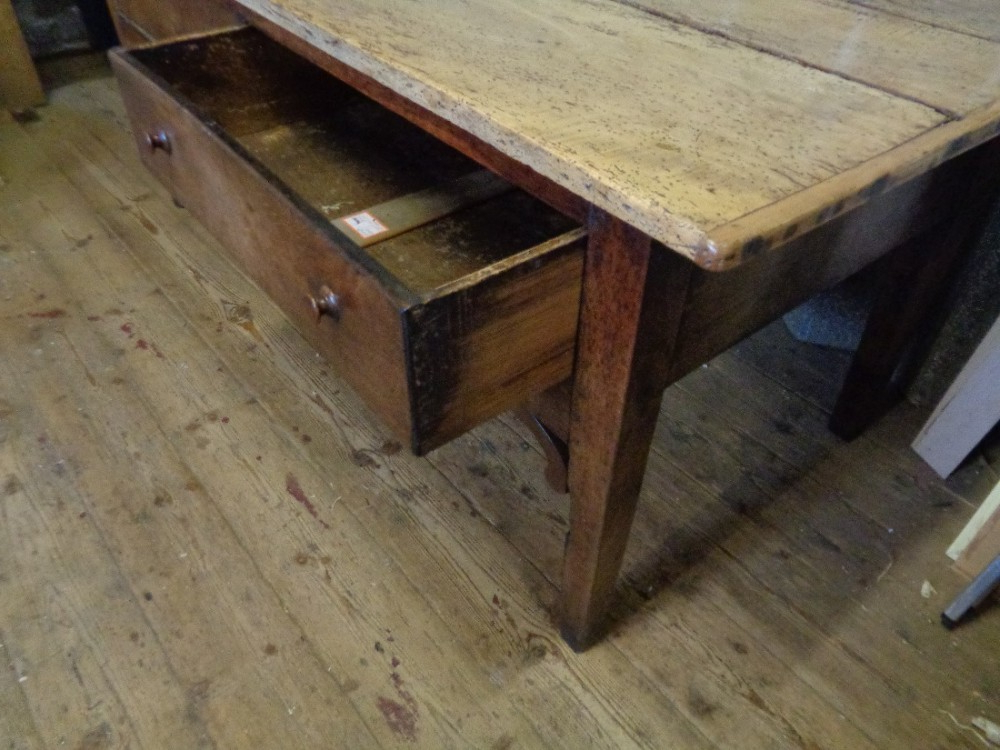 """Antique Georgian Welsh Sycamore Top Oak Serving Table Regarding Widely Used Kinston 74"""" Wide 4 Drawer Pine Wood Sideboards (View 18 of 20)"""