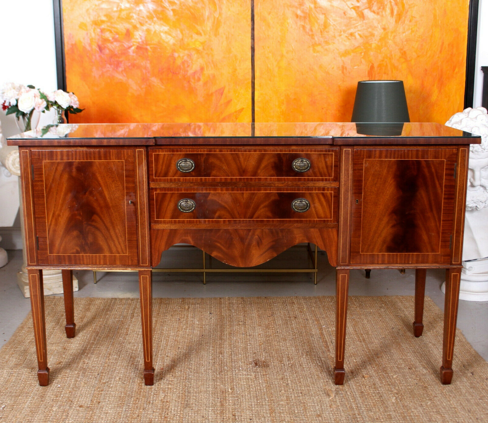 Antique Sideboard Fine Quality Inlaid Flamed Mahogany In Well Known Wales Storage Sideboards (View 6 of 20)