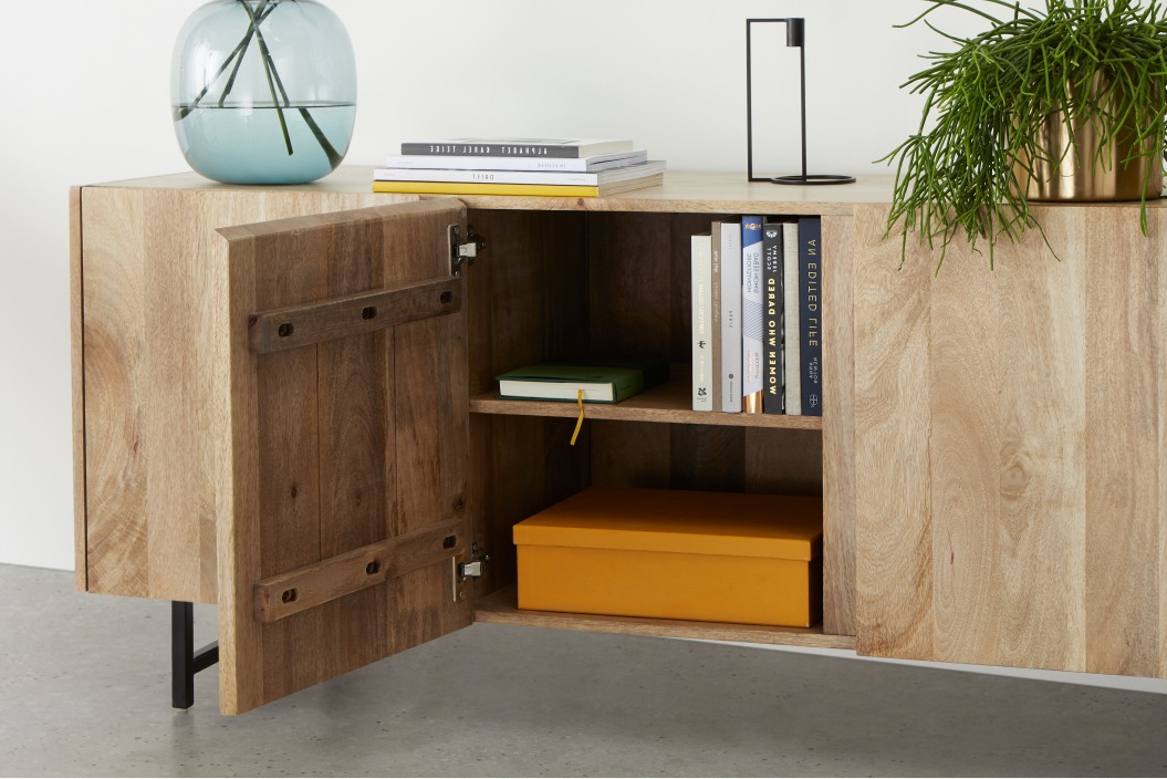 Aphra Sideboard, Light Mango Wood And Black (View 16 of 20)