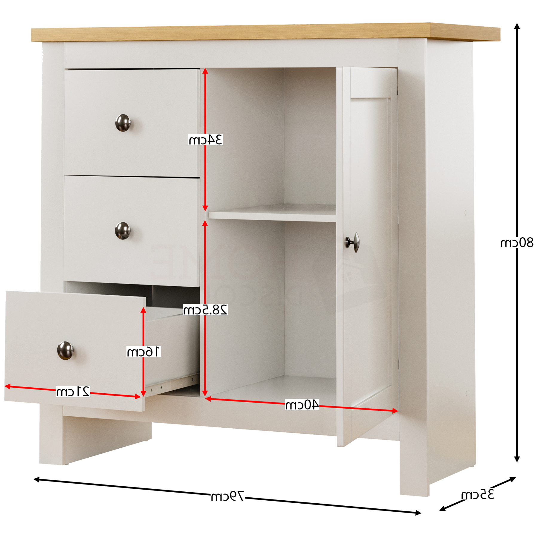 """Arlington Chest Of Drawers Table Bookcase Sideboard Living Pertaining To Best And Newest Nahant 36"""" Wide 4 Drawer Sideboards (View 19 of 20)"""