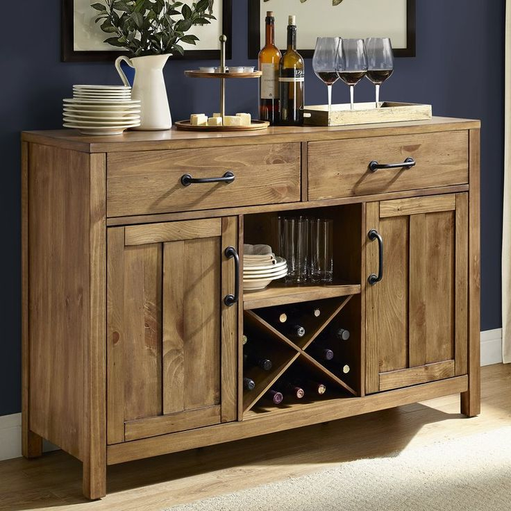 """Avenal 52"""" Wide 2 Drawer Sideboard (with Images Inside Preferred Slattery 52"""" Wide 2 Drawer Buffet Tables (View 7 of 20)"""