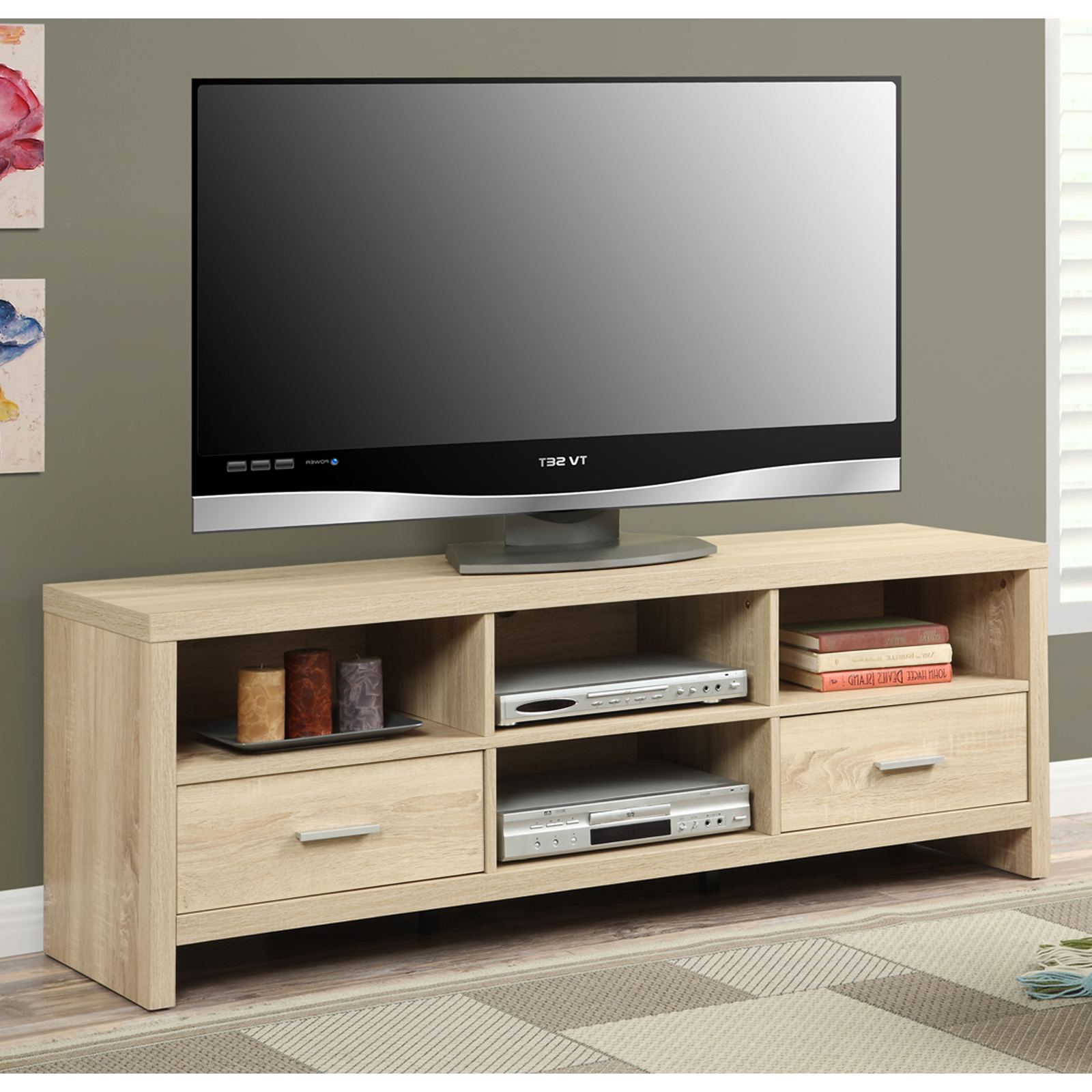 """Avenir Tv Stands For Tvs Up To 60"""" Inside Famous Convenience Concepts Key West 60 In (View 3 of 20)"""