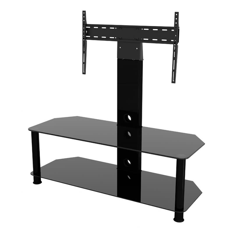 """Avf Group Classic Corner Glass Pedestal Tv Stand Up To 65 With Regard To 2020 Adrien Tv Stands For Tvs Up To 65"""" (View 18 of 20)"""