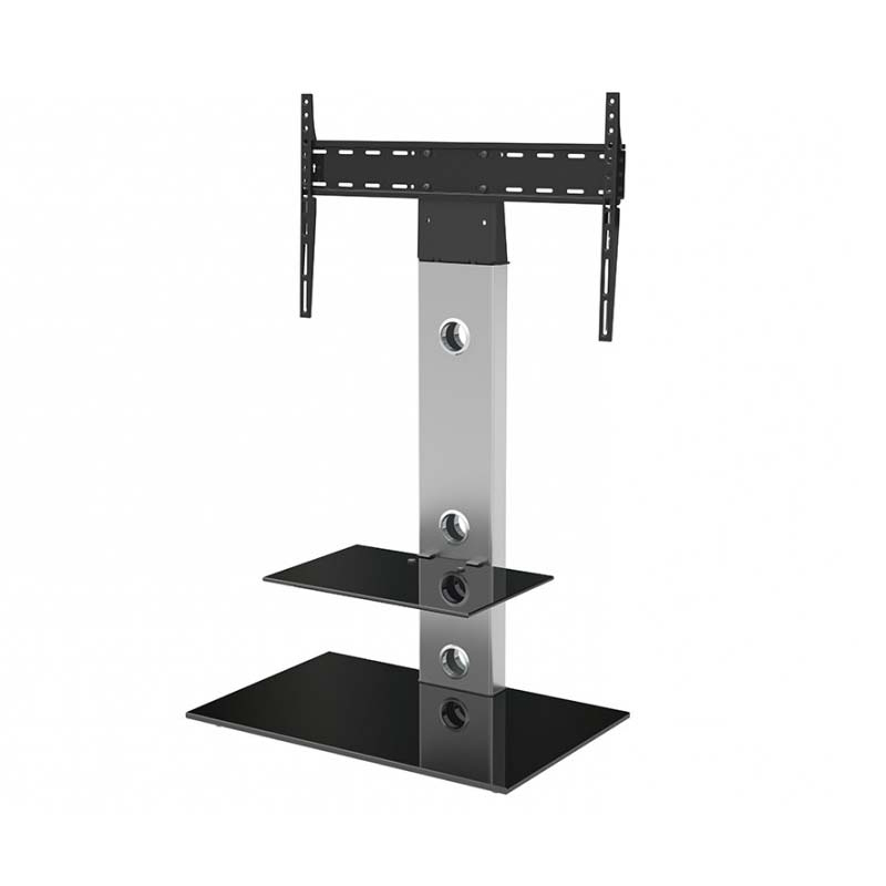"""Avf Lesina Pedestal Stand With 65 Inch Tv Mount (silver Within Fashionable Adrien Tv Stands For Tvs Up To 65"""" (View 19 of 20)"""