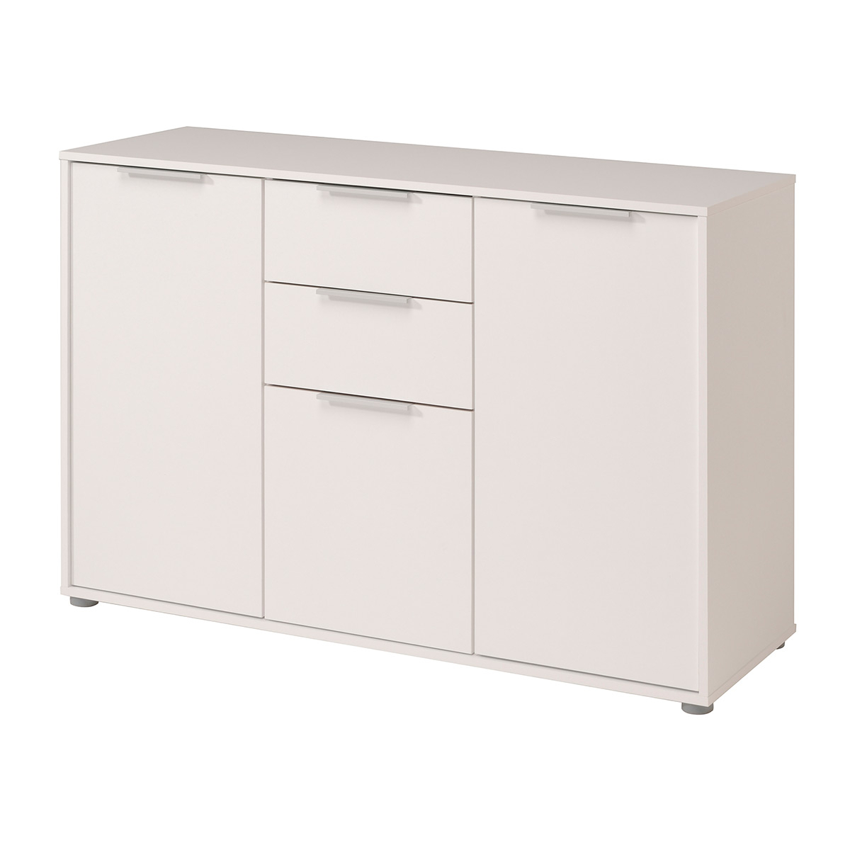 """Axel Sideboard With 3 Doors And 1 Drawer, White – Walmart With Famous Nahant 36"""" Wide 4 Drawer Sideboards (View 7 of 20)"""