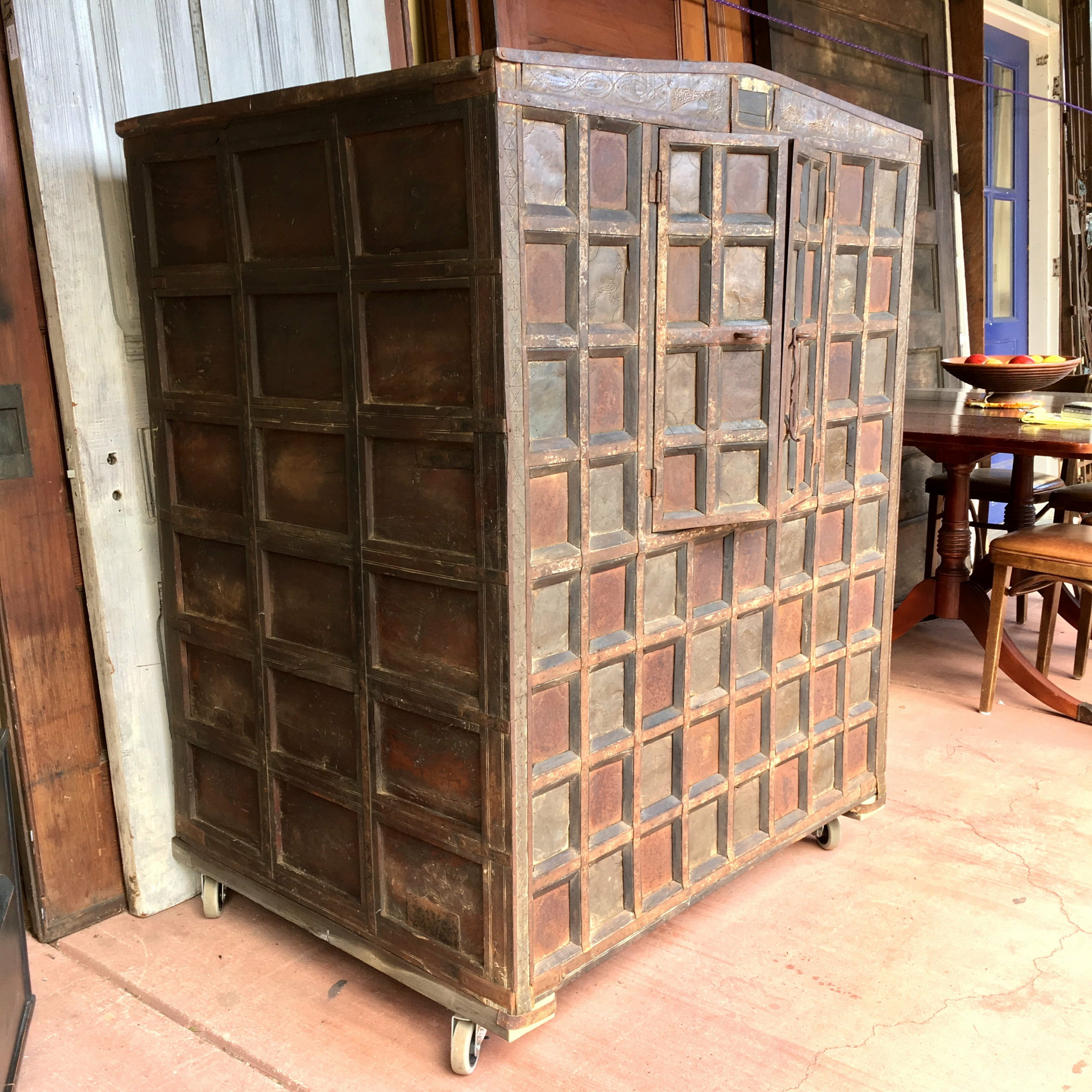 """Balinese Cabinet W/ Stippled Copper Accents With Most Recent Nazarene 40"""" H X 52"""" W Standard Bookcase (View 9 of 20)"""