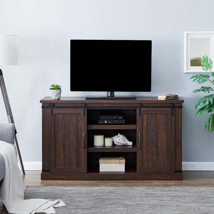 """Barn Door With Miah Tv Stands For Tvs Up To 60"""" (View 2 of 20)"""