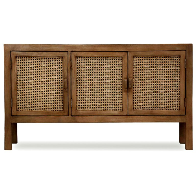 """Bayou Breeze Bixby 58"""" Wide Mango Wood Sideboard & Reviews Throughout Newest Fritch 58"""" Wide Sideboards (View 10 of 20)"""