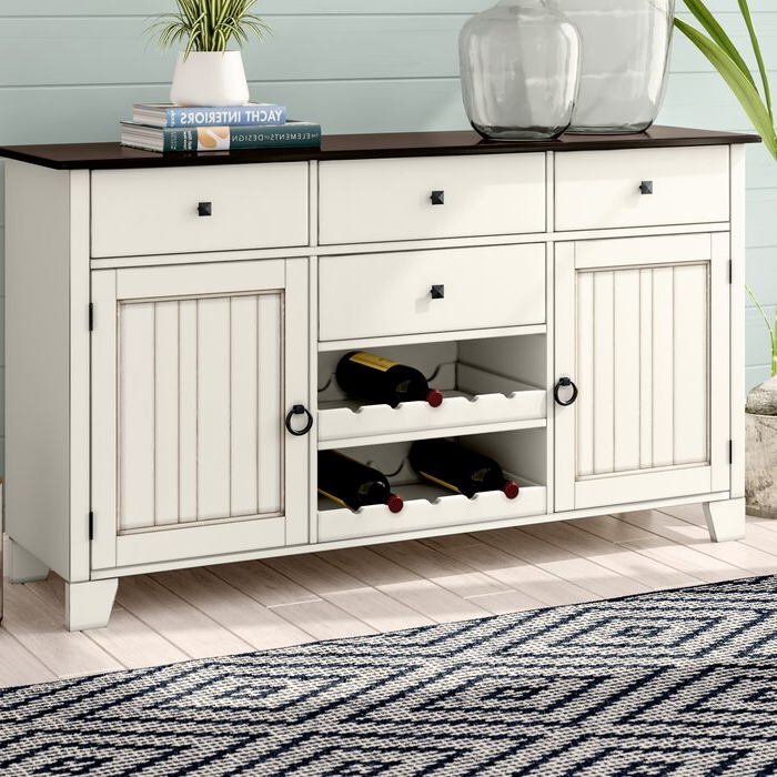 """Beachcrest Home Tamiami 66"""" Wide 4 Drawer Rubberwood Pertaining To Latest Findley 66"""" Wide Sideboards (View 6 of 20)"""