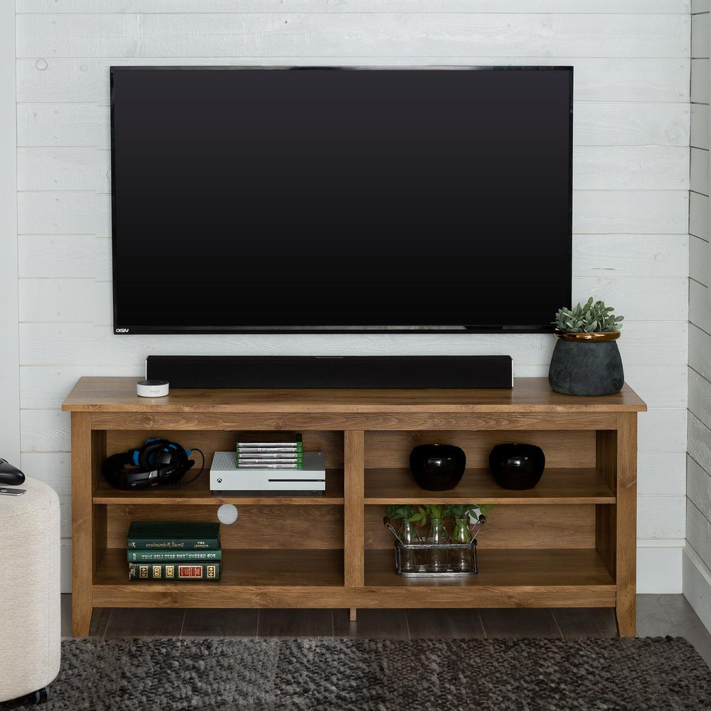"""Berene Tv Stands For Tvs Up To 58"""" Inside Well Known Walker Edison Furniture Company Columbus 58 In (View 15 of 20)"""