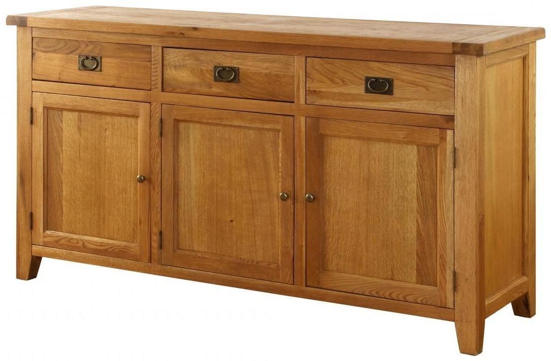 """Bespoke Oak Sideboards Uk Inside Ellison 76"""" Wide Sideboards (View 8 of 20)"""