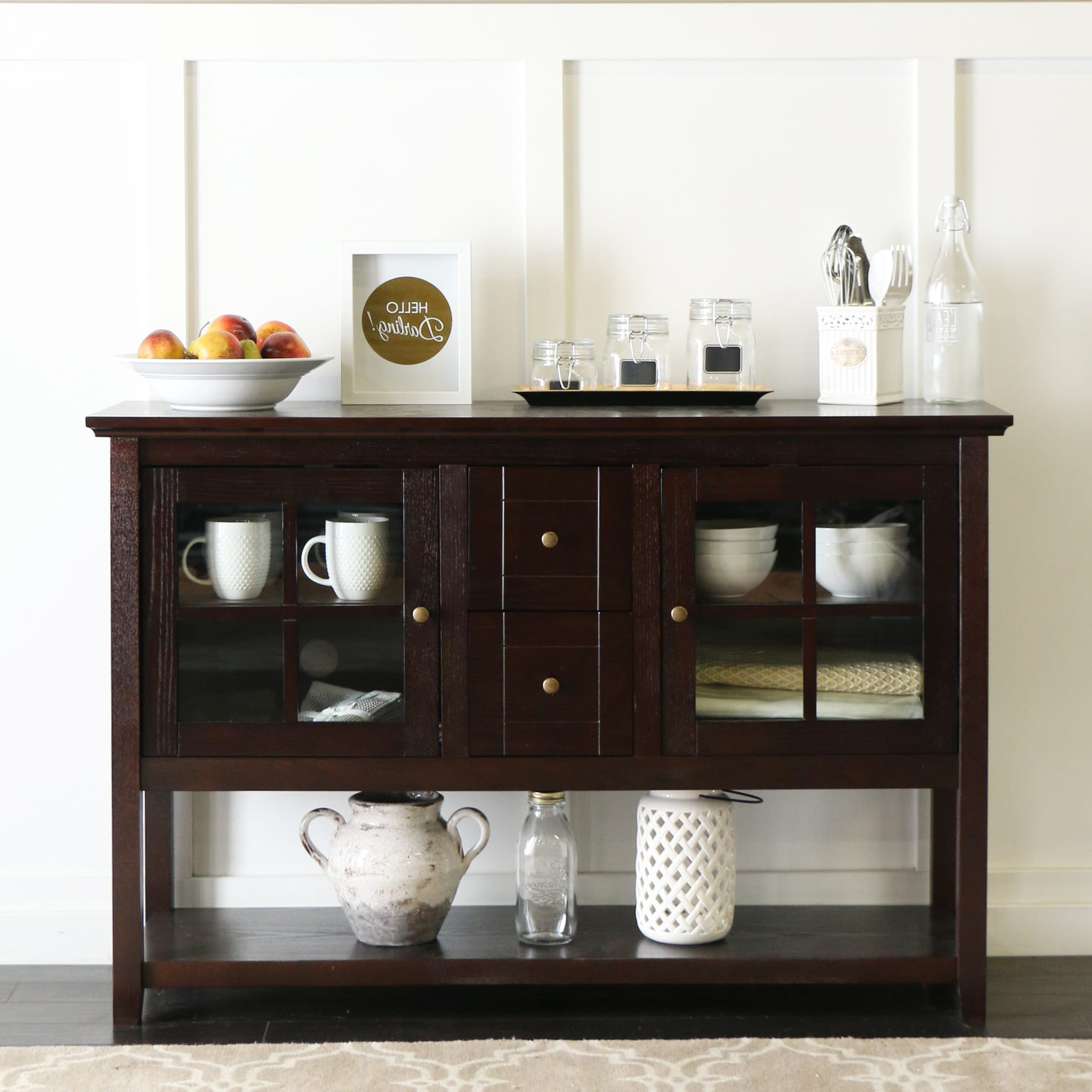 """Best And Newest Buffet 52 Inch Tv Console Table – Espressowalker Edison Inside Slattery 52"""" Wide 2 Drawer Buffet Tables (View 19 of 20)"""
