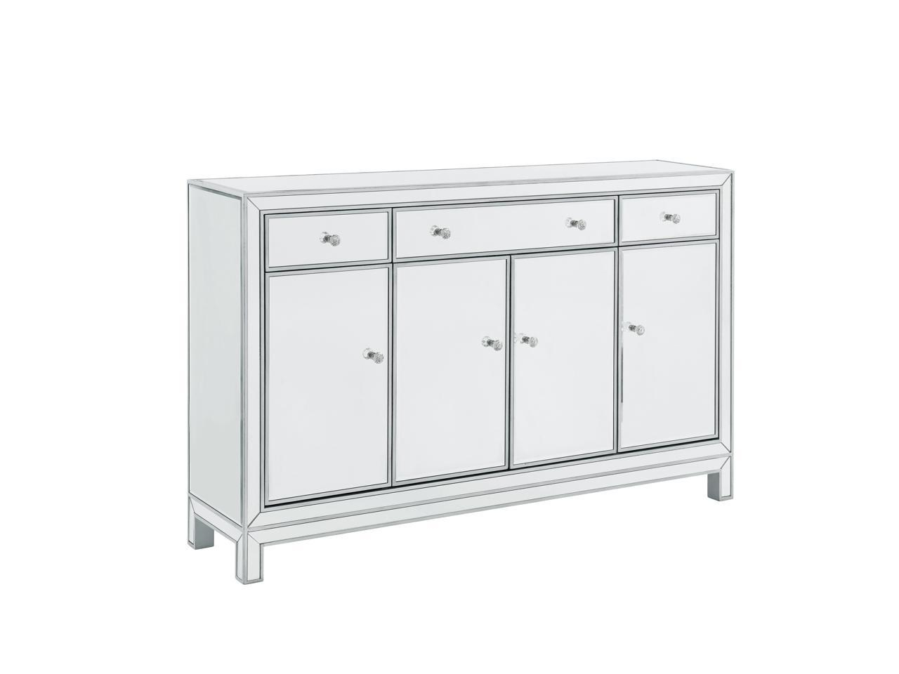 """Best And Newest Elegant Decor Mf72001 Buffet Cabinet 3 Drawers 4 Doors Within Ismay 56"""" Wide 3 Drawer Sideboards (View 10 of 20)"""