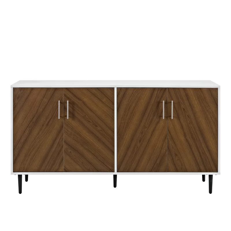 """Best And Newest Keiko Bookmatch 58"""" Wide Sideboard (View 18 of 20)"""