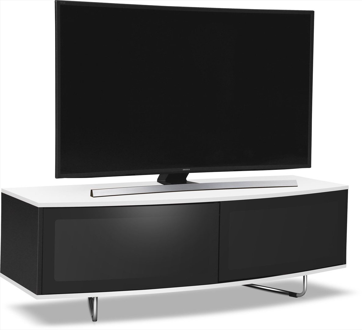 """Best And Newest Mda Designs Caru White Tv Stand For Up To 65 Inch Tvs With Regard To Finnick Tv Stands For Tvs Up To 65"""" (View 16 of 20)"""