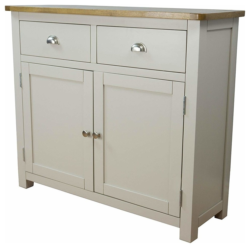 """Best And Newest Modern Stylish Sideboard, Grey Painted Mdf With 2 Door And Intended For Bruin 56"""" Wide 2 Drawer Sideboards (View 12 of 20)"""