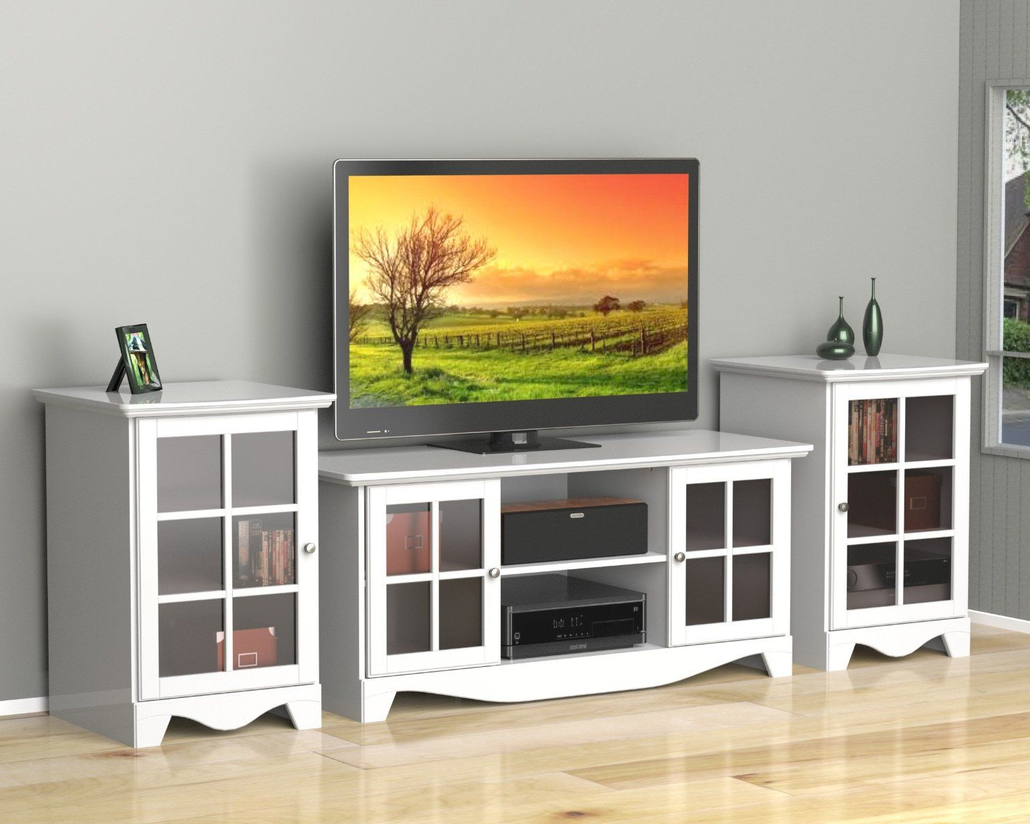 Best And Newest Nexera 101203 Pinnacle Center Channel Tv Stand, 56 Inch Pertaining To Kemble Tv Stands For Tvs Up To (View 13 of 20)