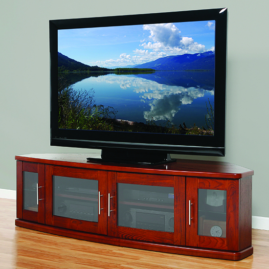 """Best And Newest Plateau Newport62w Corner Tv Stand Up To 70"""" Tvs In Walnut With Regard To Adalberto Tv Stands For Tvs Up To 65"""" (View 6 of 20)"""