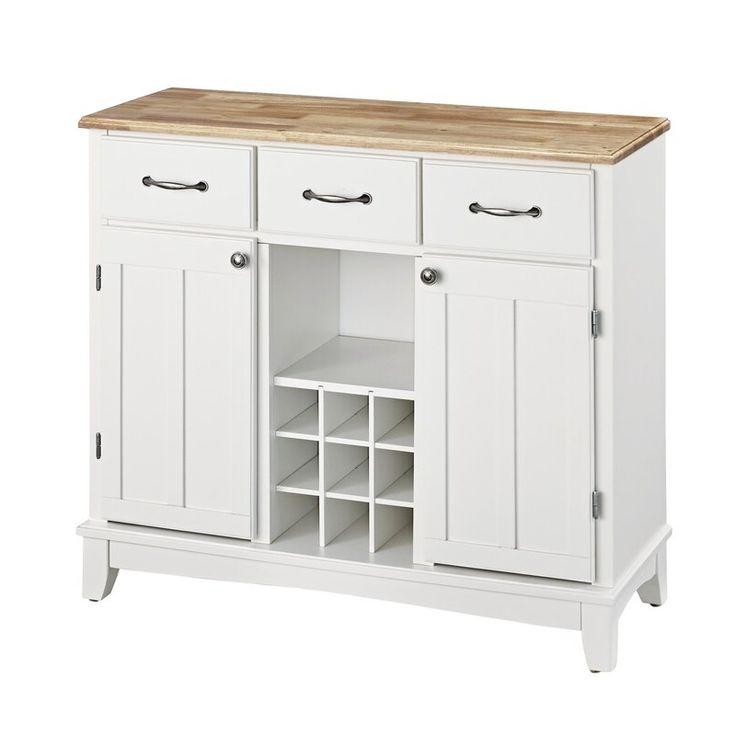 """Best And Newest Presswood Traditional 41.75"""" Wide 3 Drawer Wood Server In Inside Presswood Traditional (View 6 of 20)"""