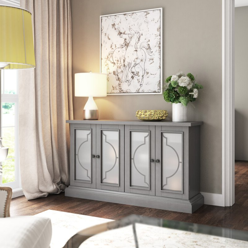 """Best And Newest Rosdorf Park Tompkins 56"""" Wide 2 Drawer Sideboard In Sandweiler 54"""" Wide 2 Drawer Sideboards (View 20 of 20)"""
