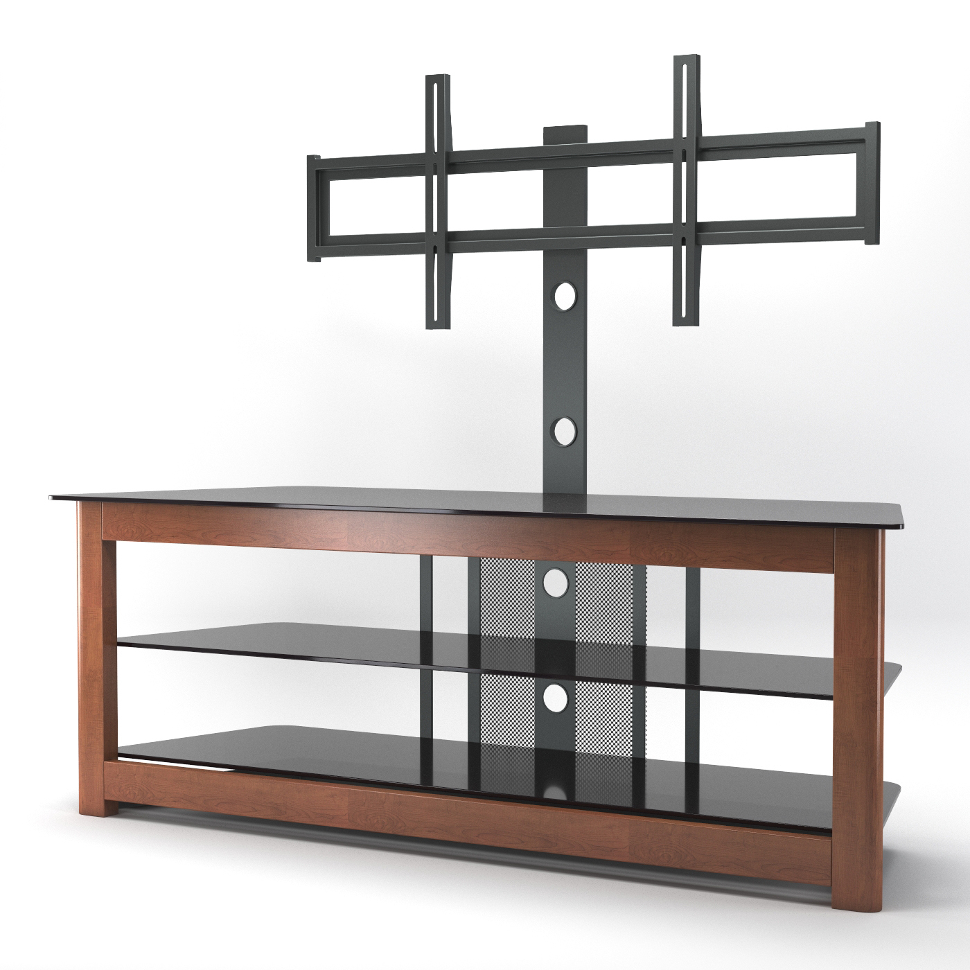 """Binegar Tv Stands For Tvs Up To 65"""" Pertaining To Most Recently Released Bombay Floor Tv Stand With Cherry Wood Mount (View 13 of 20)"""