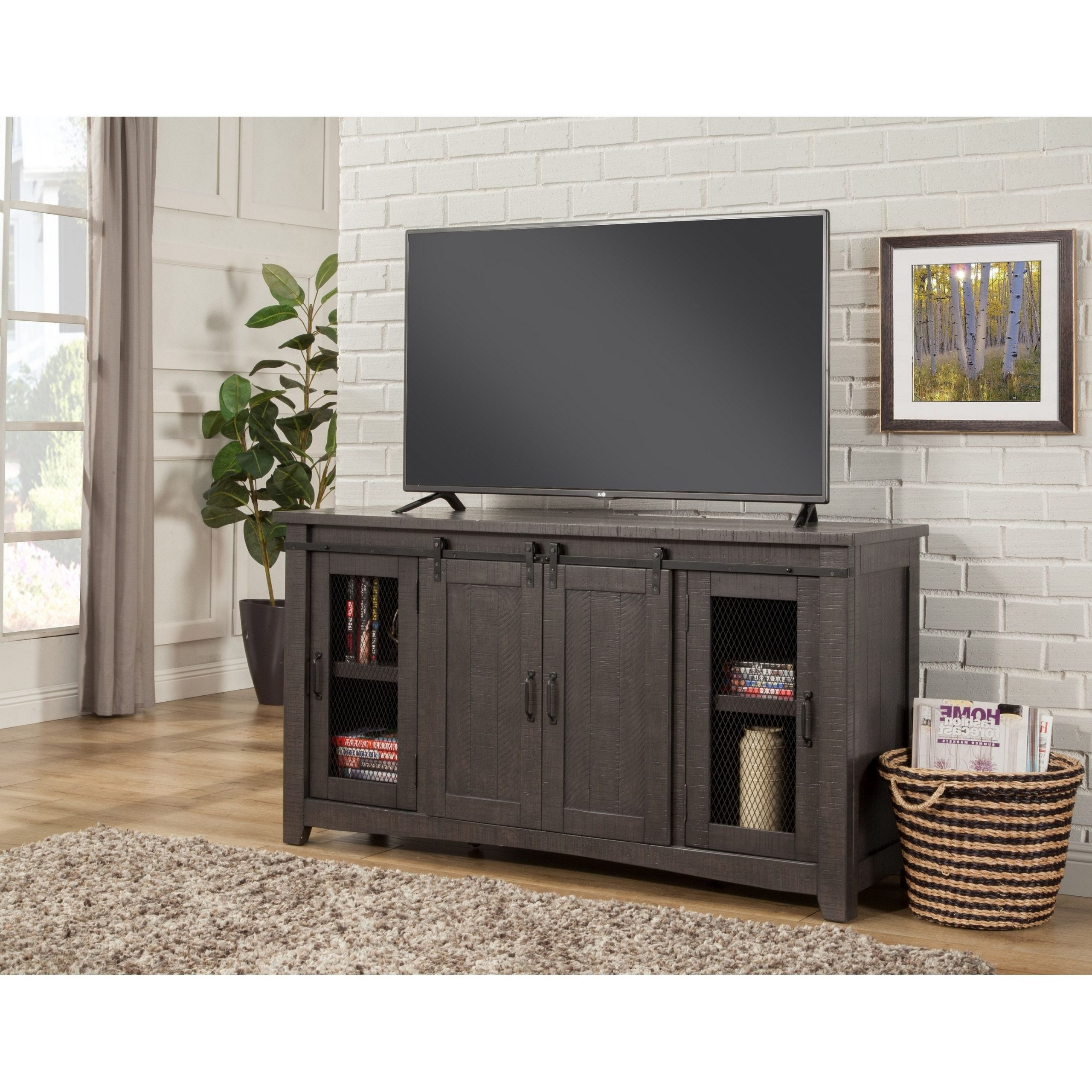 """Binegar Tv Stands For Tvs Up To 65"""" Within Fashionable Martin Svensson Home Sierra 65"""" Grey Tv Stand – 65 Inches (View 15 of 20)"""