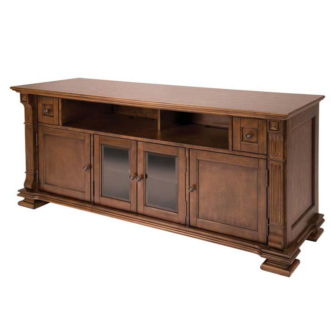 Blaire Solid Wood Tv Stands For Tvs Up To 75 Throughout Widely Used Bello Elegant Solid Wood Tv Cabinet For 75 Inch Tvs Mocha Pr (View 15 of 20)