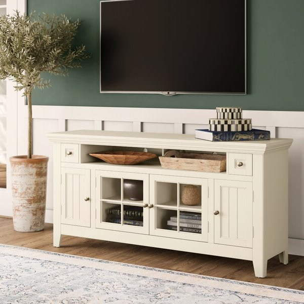 Blaire Solid Wood Tv Stands For Tvs Up To 75 With Regard To 2020 Rosalind Wheeler Wyndemere Tv Stand For Tvs Up To (View 3 of 20)