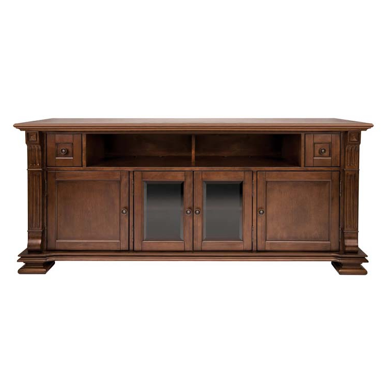 Blaire Solid Wood Tv Stands For Tvs Up To 75 Within Famous Bello Elegant Solid Wood Tv Cabinet For 75 Inch Tvs Mocha Pr (View 12 of 20)